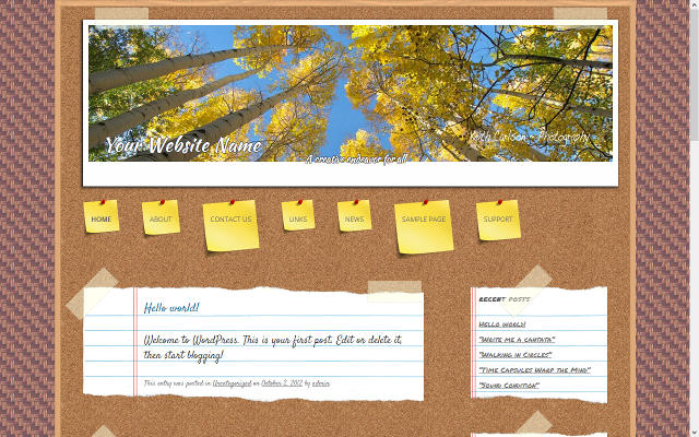 Corkboard Theme Screenshot